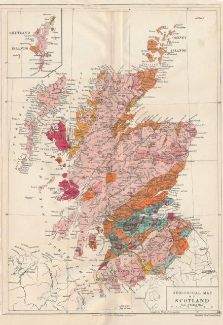 Stanford's Geological Map of Scotland - Historical
